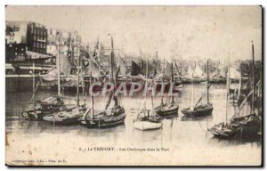 Treport - The Rowboats in the Port - Old Postcard