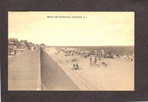NJ Beach Lavallette near Seaside Heights Toms River New Jersey Postcard