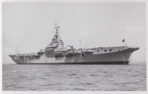 HMS Magnificent Navy Military War Ship Vintage Plain Back Postcard Old Photo