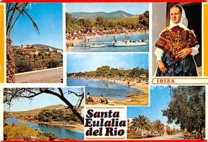 Spain Old Vintage Antique Post Card Santa Eulalia del Rio Ibiza 1971