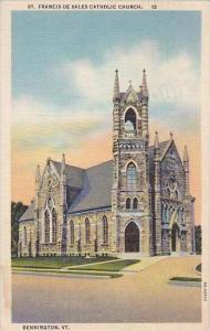 Vermont Bennington Saint Francis De Sales Catholic Church 1945