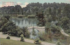 Illinois Peoria Lake And Bridge To Rose Island Glen Oak Park 1915