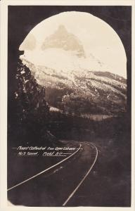 RP: Mount Cathedral from Upper Entrance , No2 Tunnel , FIELD , B.C. , Canada ...