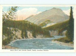 W-border RIVER SCENE Banff Alberta AB AE6442