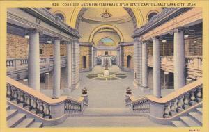Corridor and Main Stairways State Capitol Building Salt Lake City Utah