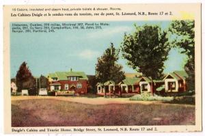 Daigle's Cabins & Tourist Home, St Leonard NB