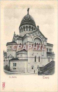 Postcard Old St Martin Tours