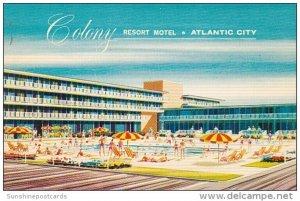 New Jersey Atlantic City Colony Resort Motel 1963