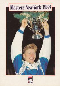 Boris Becker German Tennis Champion 1988 New York Masters USA Victory Postcard