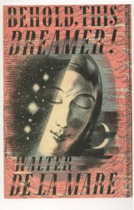 Behold This Dreamer Walter De La Mare 1939 Book Postcard