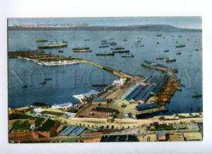144670 GIBRALTAR Waterport gate & Mole Vintage postcard