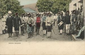 ivory coast, GRAND BASSAM, Military Procession Music Band Instruments (1905)
