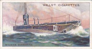 Cigarette Card Wills Famous Inventions 1915 No 35 Modern Submarine