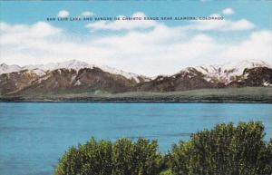 Colorado San Luis Lake and Sangre De Christo Range Near Alamosa