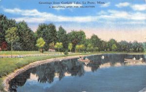 La Porte Minnesota~Greetings From Garfield Lake~1940s PC