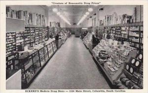 South Carolina Columbia Eckerd's Modern Drug Store Interior View