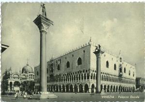 Italy, Venice, Venezia, Palazzo Ducale, 1955 used Postcard