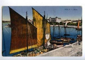 158117 Croatia Pula POLA Riva Vintage postcard
