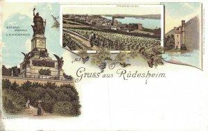 Germany Gruss aus Rüdesheim Litho 06.91