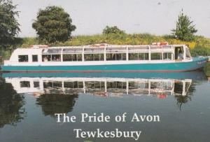 The Pride Of Avon Tewesbury Ship Waterbus Tour Information Gloucester Postcard