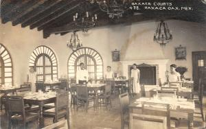 F61/ Foreign RPPC Postcard Mexico c1940s Oaxaca Courts Restaurant Interior
