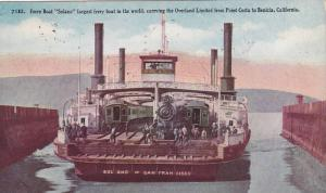 Ferry Boat Solano carrying the Overland Limited from Point Cosat to Benicia...