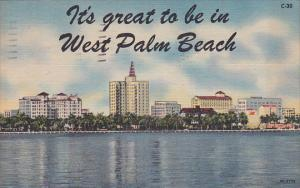 Florida West Palm Beach Its Great To Be In West Palm Beach 1956