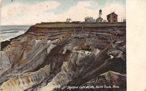26144 MA, North Truro, 1915, Highland Light and Cliffs