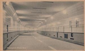 Maastunnel Rotterdam Antique Postcard