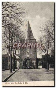 Gruss aus Post Card Old Rosheim