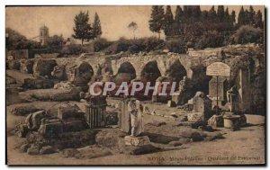 Old Postcard Roma Monte Palatino Quartiere Del Pretoriani