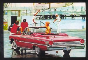 1963 FORD GALAXIE CAR DEALER ADVERTISING POSTCARD '63 FORD CONVERTIBLE CARS