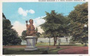 ANNAPOLIS, Maryland, 1930-1940s; Tecumseh Monument, U.S. Naval Academy