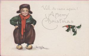 POWELL: Dutch Boy in Hat & Scarf, Vell, It's Came Again! A Merry Christmas ...
