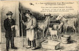 CPA Les embetements d'un MORVANdiau ! (De Preporche a Bourges) (457154)
