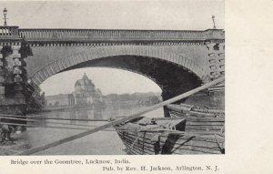 LUCKNOW , India , 1900-10s ; Bridge over the Goomtree