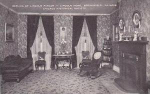 Illinois Chicago Replica Of Lincoln Parlor Lincoln Home Springtfield Chicago ...