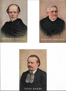 Czech Republic František Doucha, Boleslav Jablonský & Josef Barák Lot of 3 01.05
