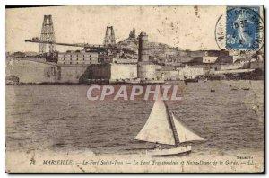 Old Postcard Marseille Fort St John The Transporter Bridge and Notre Dame de ...