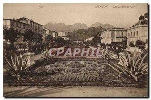 Old Postcard The Gardens of Menton Carei