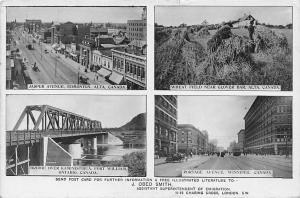 Canada Alta Jasper Avenue Edmonton Wheat Field Kaministiqua Bridge Winnipeg 1913