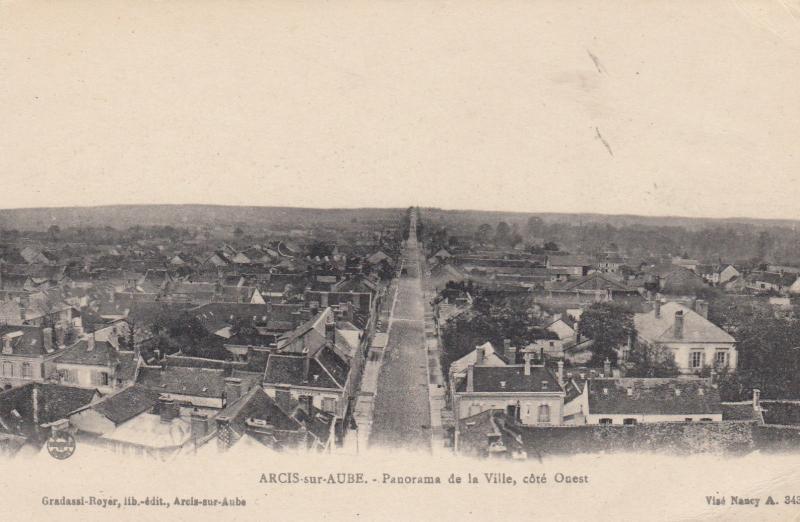 Arcis-sur-Aube, Aube department, France, 00-10s Panorama de la Ville, cote Onest