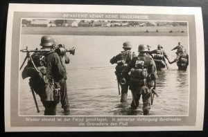 Mint Germany RPPC Postcard The infantry knows no obstacles Crossing The River