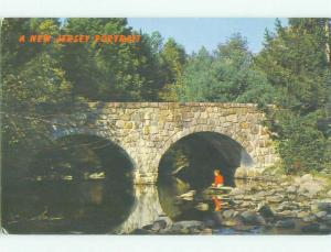 Unused Pre-1980 BRIDGE SCENE Sandyston Township New Jersey NJ HQ9164