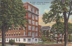 Iowa Cedar Rapids St Luke's Methodist Hospital 1948 Curteich