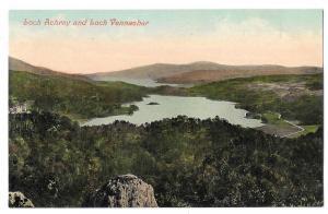 Scotland Loch Achray and Loch Venachar Vintage Postcard