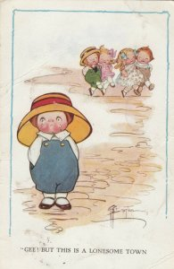Viola G.G. Wiederseim Drayton; Gee! This a lonesome Town Crying Child, 1914