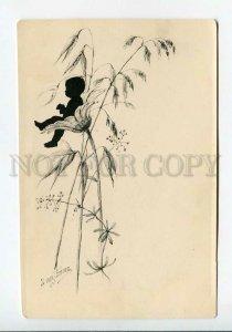 3178179 Elizabeth BEM silhouette RARE vintage lithography