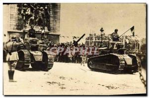 PHOTO CARD Army Tanks Tanks d & # 39assaut