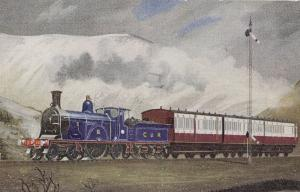 NER Railway Stirling 2-2-2 Train No 326 Eight Footer Postcard